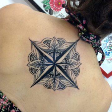 mandala black tatuagem