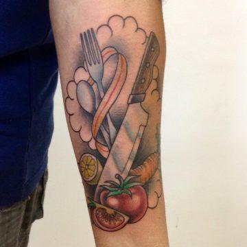 talheres tatuagem neotradicional