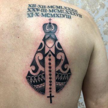 nossa senhora aparecida maori tatuagem