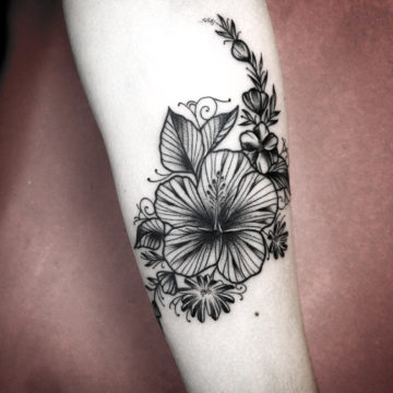 tatto flor black