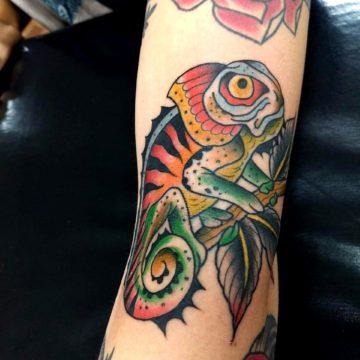 tattoo calango neotradicional