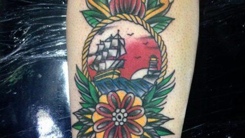 Tatuagem-antebraço-neotradicional-adaga