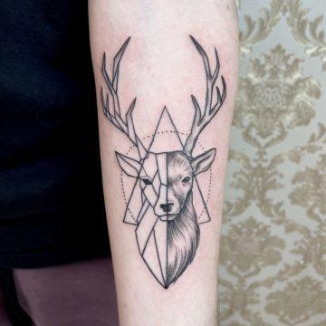 tatuagem-veado-line