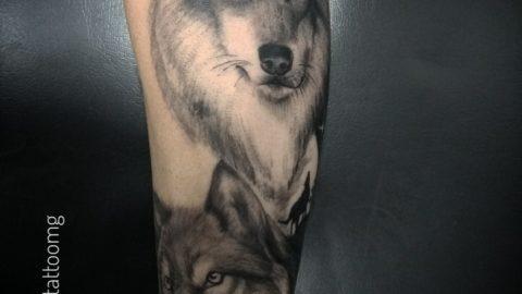 tatuagem-blackwork-lobo