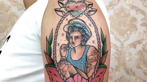 tatuagem-oldschool-marinheira