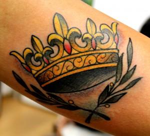 Coroa pricesa tatuagem