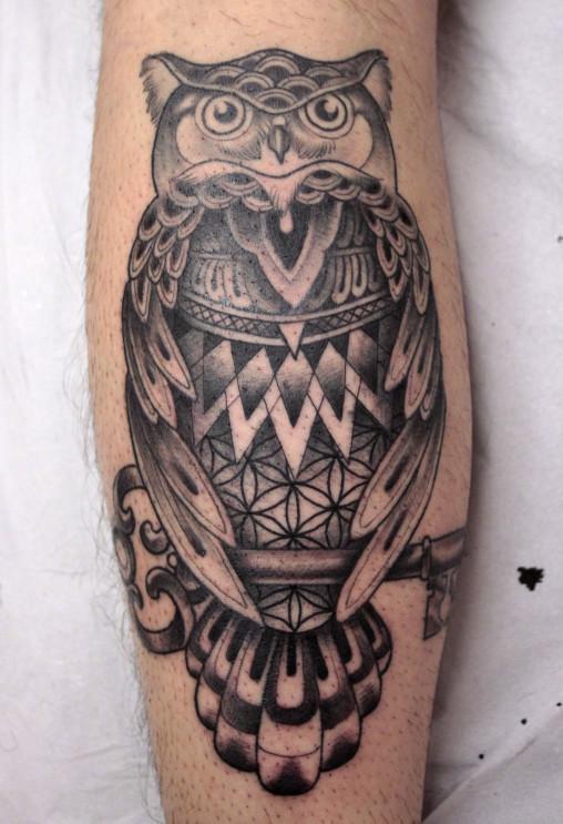 Tattoo Ei - tatuagem coruja